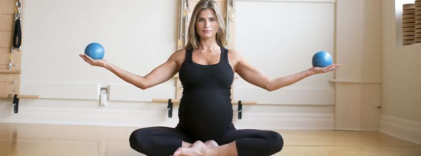 Prenatal Pilates with weighted balls