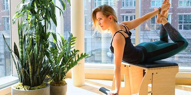 Pilates Pose on Chair