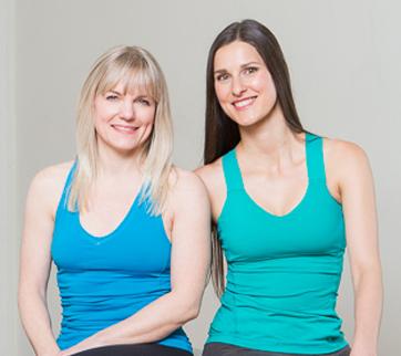 Margot McKinnon (left) with Larisa Makuch