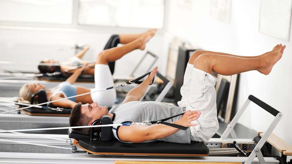 Supine on Pilates Reformer