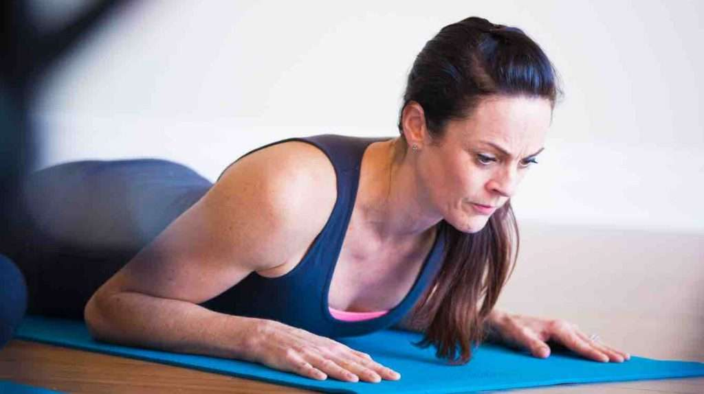 Body Harmonics Pilates Prone position