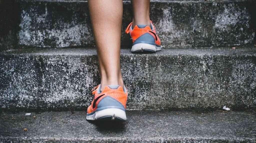 Pilates Running Up Stairs
