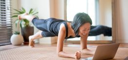 Pilates exercises at home